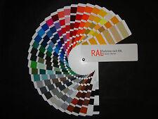RAL Farbtonkarte Farbfächer ohne Firmenwerbung Profiqualität Farbkarte groß