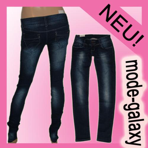 Damen HüftjeanS Röhren Jeans Hose *2-Knopf*uSeD* TregginS Gr.34-40 #R8108