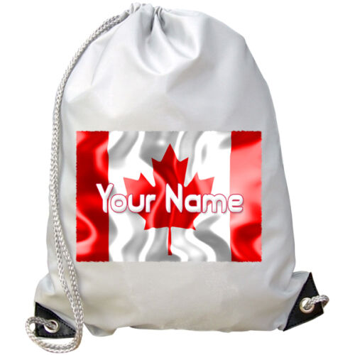 SWIMMING BAG CANADA FLAG PERSONALISED GYM GREAT KIDS NAMED GIFT CANADIAN