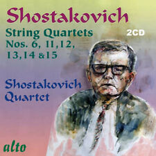 2 CD BOX SHOSTAKOVICH STRING QUARTETS 6,11,12,13,14,15