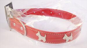Collier-Rouge-pour-chien-avec-motifs-4-Chiens-Tour-de-cou-30-40-cm