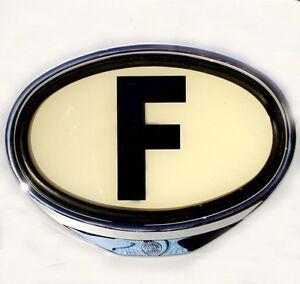 f emblem beleuchtet france land schild 2cv swf porsche vw. Black Bedroom Furniture Sets. Home Design Ideas