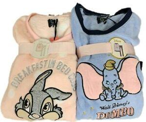 100% qualité garantie design élégant qualité supérieure Details about Disney Ladies Fleece Pyjama Set Dumbo Thumper Women's Pj's  Cosy Soft Primark