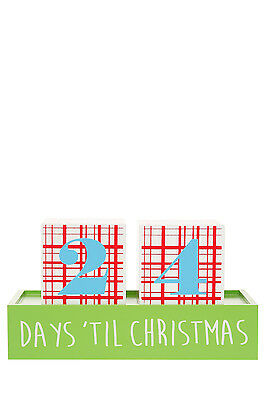 NEW Vue Jingle Bells Wooden Block Advent Calendar