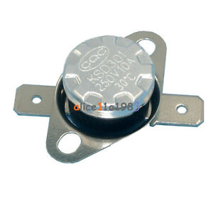 5PCS-KSD301-30-C-86-F-Normal-Open-N-O-Temperature-Switch-Thermostat-10A-250V