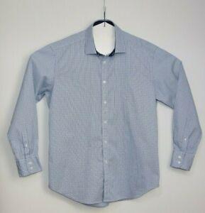 T M Lewin Men's Slim Fit Check Cotton Long Sleeve Shirt Size XL