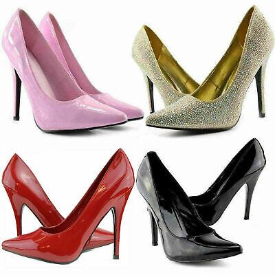 MEN/'S Escarpins Talons Hauts Crossdresser Drag Queen Noir Rouge En Daim Large Chaussures Big