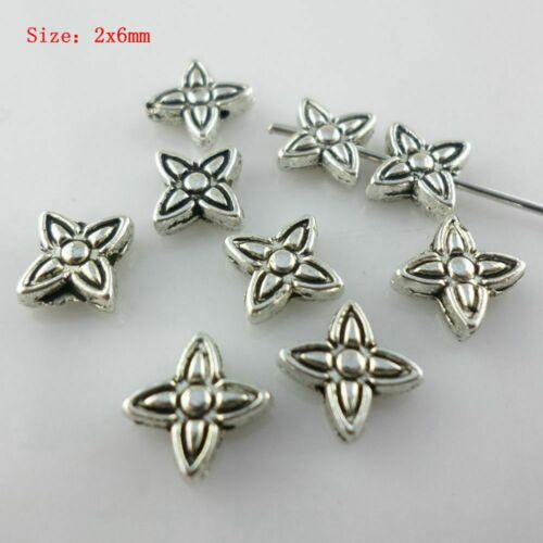 Mixed Styles Tibetan Silver Charm Loose Spacer Beads DIY Jewelry Findings