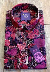 New Print Collar Saffron Finch Women Round Limited Edition Paisley Liberty Shirt ra5xZ7wqrS