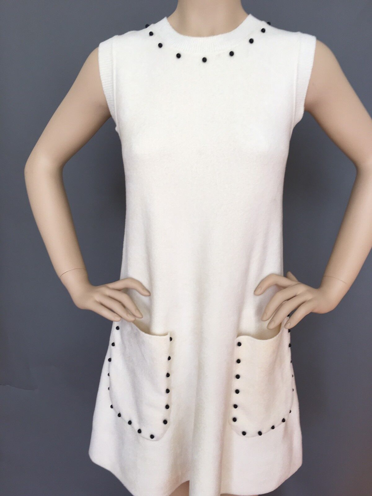 New Authentic Sportmax by Max Mara knitted short Dress-Tunic, Size M, MSRP   835