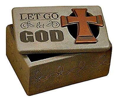 Montana West HorseShoe Small Trinket Small Box Faith with Cross Vintage Western