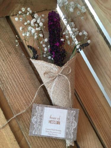 Hessian Flower Sack Wedding Party Venue Decoration Small /& Large Hessian Pew