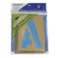 Duro 401319 Stencil-It Reusable Lettering Set-6 in. Craft Supplies
