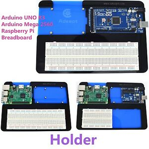 Adeept Acrylic 5 in Breadboard Holder for Arduino UNO Mega 2560,Raspberry Pi 3