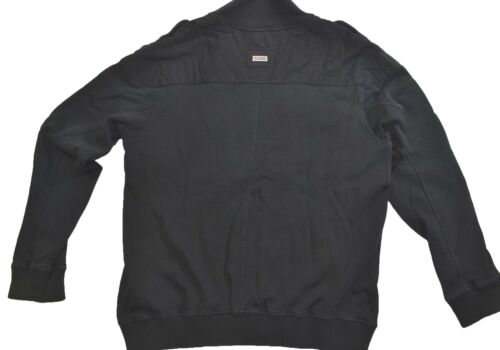 LRG UNDERGROUND INFANTRY Faded Black Four Front Pockets Zip Up Men's Sweatshirt