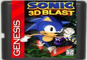 Sonic-3D-Blast-1996-16-Bit-Game-Card-For-Sega-Genesis-Mega-Drive-System
