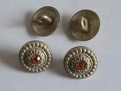 8 Stück Metallknöpfe Knopf Trachtenknopf  Knöpfe 15 mm altgold NEUWARE #022#
