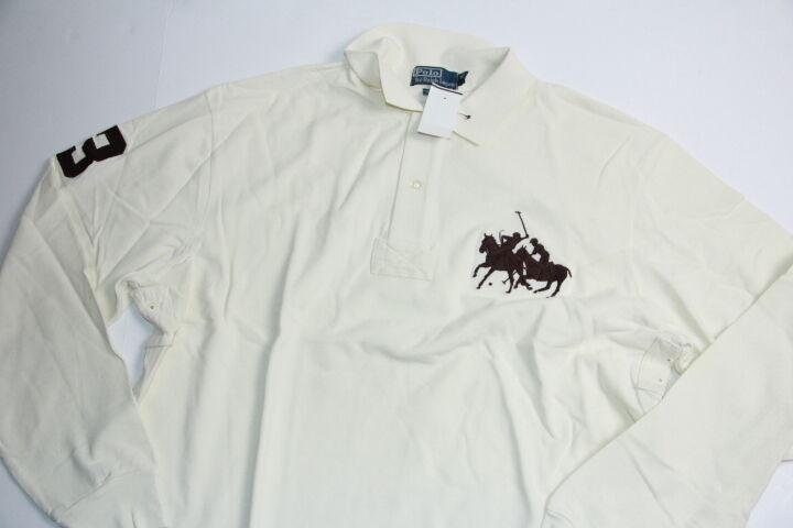 Polo Ralph Lauren Men Cream  Shirt Big Big Match Pony XLT X Tall
