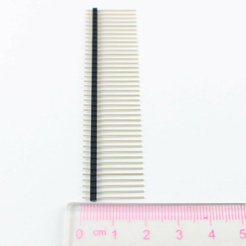 Chapado en Oro 10Pcs 2mm 2.0mm Pitch 40 Pin macho doble tira de encabezado larga L = 20mm