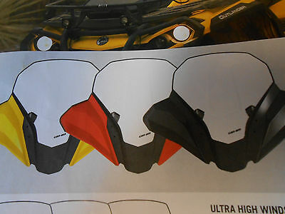 CAN AM OUTLANDER/RENEGADE ALL MODELS YELLOW HIGH WINDSHIELD KIT #715001937