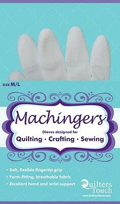 MACHINGERS MED//LG QUILTING SEWING GLOVES # 7243L  BY QUILTER/'S TOUCH