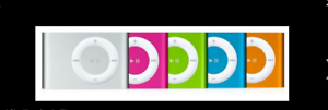 Apple-iPod-shuffle-2nd-Generation-Pink-Blue-Silver-1-GB-complete-A1204-Bundle