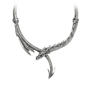 Dragon-039-s-Lure-Torc-Style-Statement-Necklace-Alchemy-Gothic-Jewellery-P829