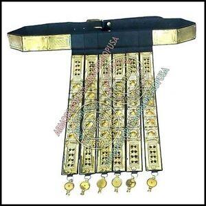 Greek Roman Knight Legionary/'s Belt Brass Rome/'s Legion leather light Apron Belt