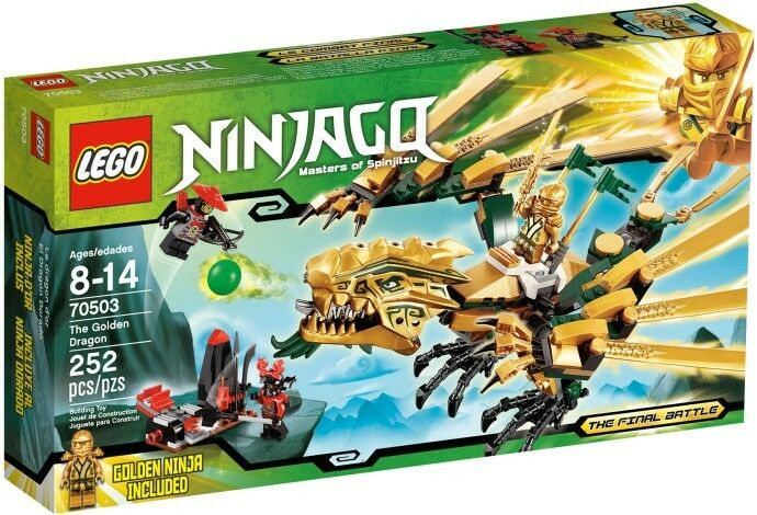OroEN DRAGON NINJAGO MASTER SPINJITZU Ninja 70503 NEW* in Box Final Battle