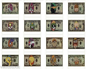 LOONEY-TUNES-MONEY-VENDING-MACHINE-STICKER-FROM-1997-2-5-034-x-3-5-034-YOU-PICK-ONE
