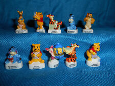 WINNIE the POOH #3 Set 10 Figurines French Porcelain FEVES Gloss Figures DISNEY