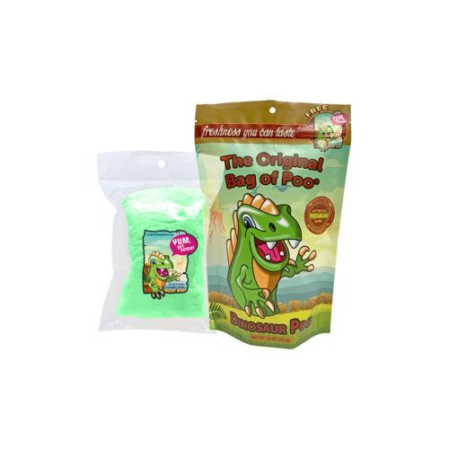 The Original Bag of Poo Dinosaur Poo Novelty Green Cotton Candy Gag Gift!