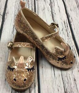 Gold Sparkle Unicorn Dress Shoes. Nwt