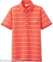 Michael Bastian X Uniqlo Striped Button-down Collar Pique Polo Shirt M