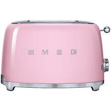 Smeg 2 Slice Toaster With 2 Large Slots, 50's Retro Style Pink TSF01