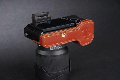 Original De Cuero Real de la mitad cámara caso bolsa cubierta para Sony A7 Sony a7r Sony A-7