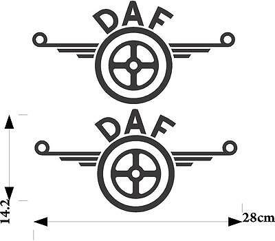 graphics DAF truck vinyl decals stickers x12 pieces any colour body work glass