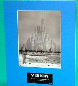 Disney Park Walt Vision Laser Cel 8x10 Art Of Disney Collectible Le