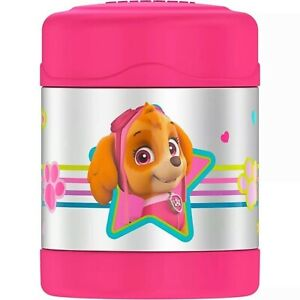 PAW-PATROL-SKYE-Thermos-FUNtainer-Pink-Stainless-Steel-Insulated-10-oz-Food-Jar