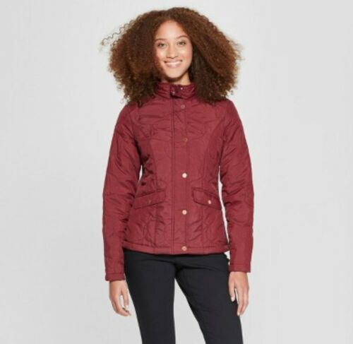 Burgundy Brand New winter gear coat A New Day Women/'s Quilted Jacket