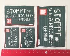 Aufkleber/Sticker: Bild - Stoppt Die Schlechtschreib-Reform (220516153)