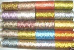 20-Metallic-multic-Embroidery-Spool-20-colours-400-YARDS-EACH-Spool