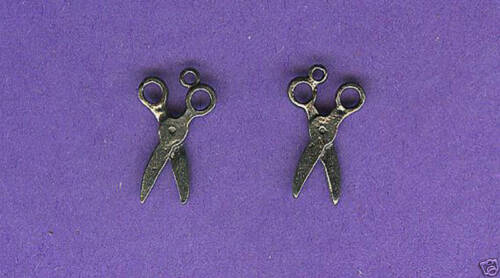 20 wholesale lead free pewter scissors charms 1206
