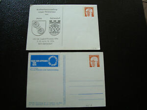 Germany-Rfa-2-Cards-1974-cy14-Germany