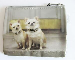 Chihuahua Small Dog Zip Purse PVC Coated and Plastic Lined Interior
