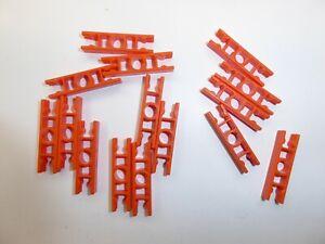 Lot of 10 Black Clips Connectors KNEX Spare Parts