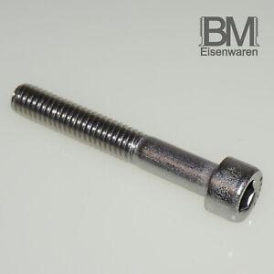 M3 M4 Zylinderschrauben Edelstahl A2 Innensechskant DIN912 oder Sechskantmutter