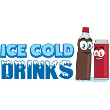 Ice Cold Drinks 3 Concession Decal Sign Cart Trailer Stand Sticker Equipment