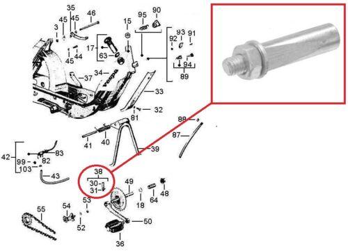Ciao 50 PX Jeu 2 clavettes de Pédale Pour Piaggio Bravo EOM 114419//114219