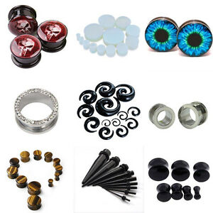 Unisex-Punk-Ear-Plug-Taper-Kit-Gauges-Expander-Stretcher-Stretching-Piercing-Lot